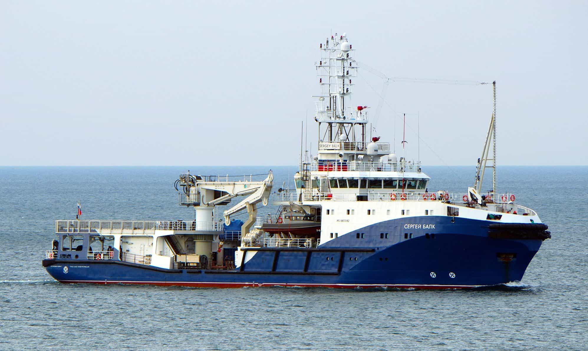 Морський буксир «Сергей Балк» на ходу 04 жовтня 2020 року. Фото - А. Бричевський