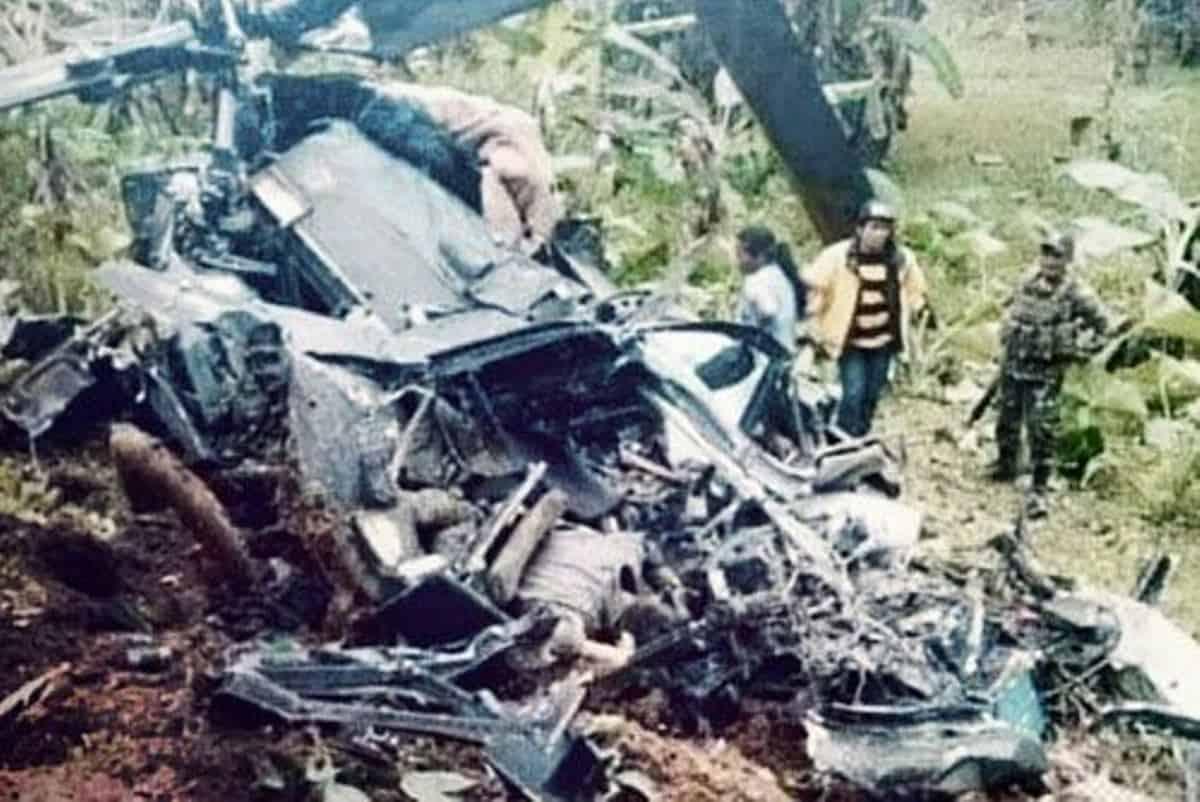 На Філіппінах розбився військовий вертоліт. Місце катастрофи вертольота Bell UH-1H Huey, № 517. Січень 2021. Фото: Pinoy Aviators