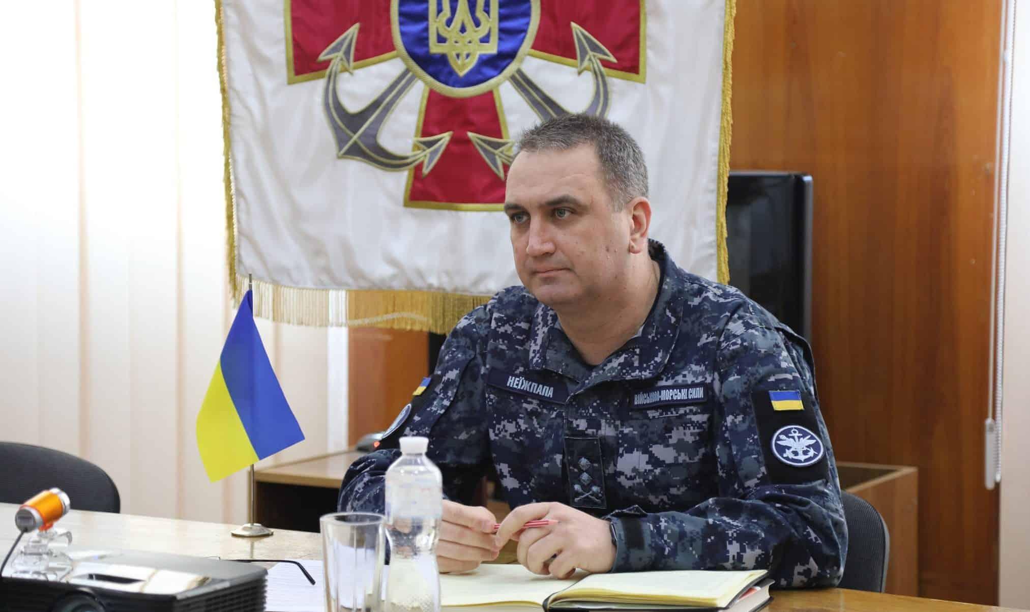 Командувач ВМС України контрадмірал Олексій Неїжпапа. Фото: ВМС ЗСУ