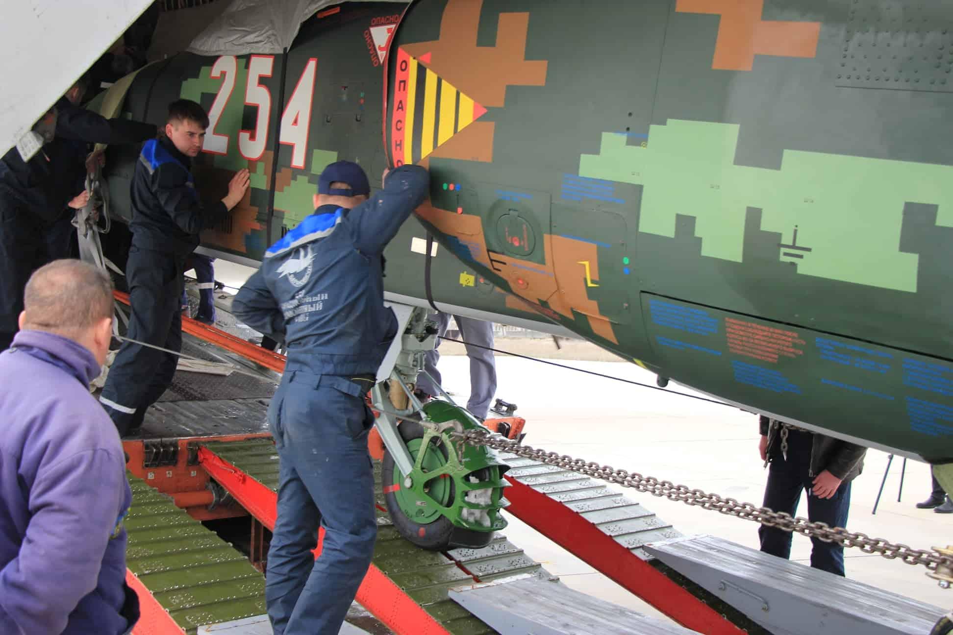 Су-25 (№254) ПС Болгарії після ремонту та модернізації у Білорусі. Лютий 2021. Фото: МО Болгарії