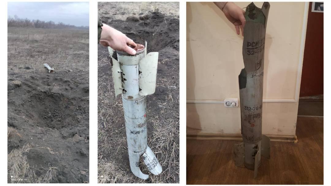 Фото від української місії при ОБСЄ після обстрілу 31 січня 2021 року