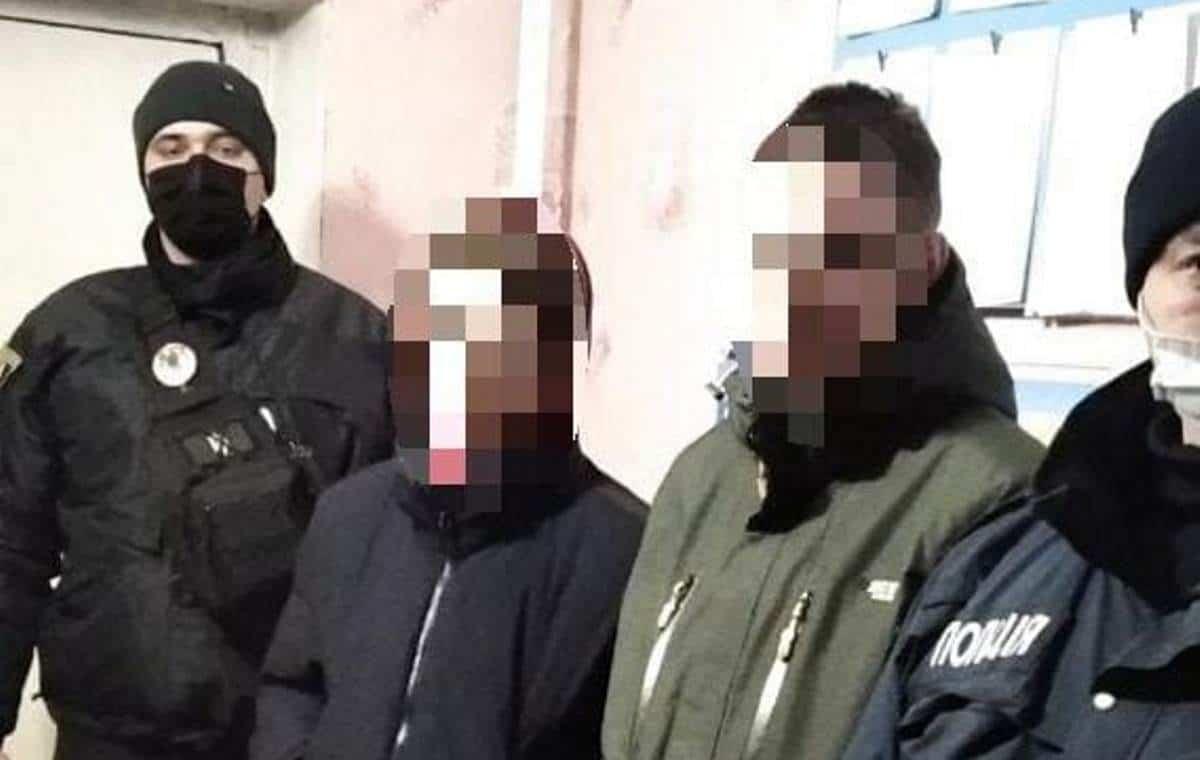 Затримані правопорушники. Лютий 2021. Фото: Національна Поліція