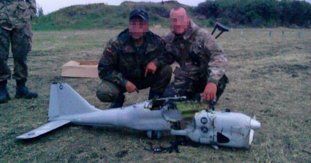 """Збитий """"Орлан-10"""" 18 липня 2014 року в районі Маринівка (десантниками 79-ї аеромобільної бригади)"""