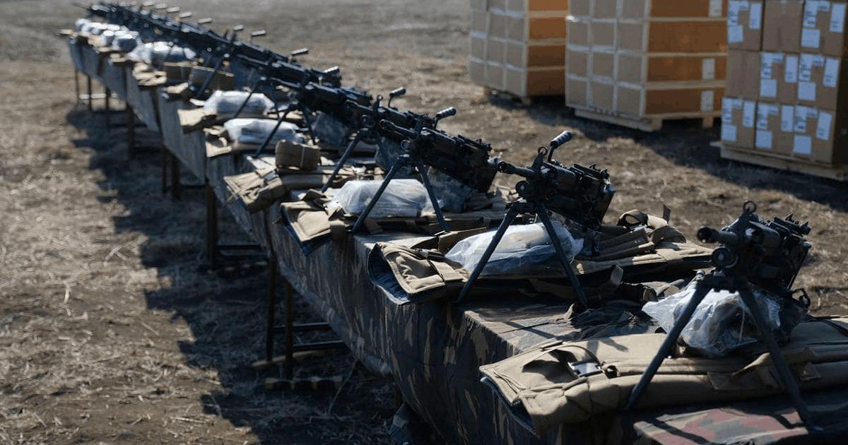 Американські кулемети M249 Збройних сил Грузії. Лютий 2021