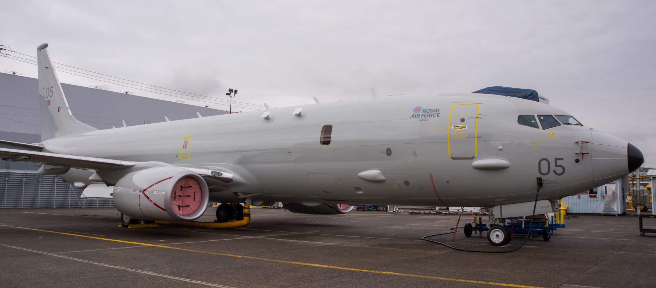 П'ятий морський патрульний літак P-8A «Poseidon» Британії з назвою «Fulmar». Лютий 2021. Фото: ПС Британії