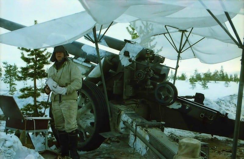 Гармата sFH 18 на службі фінської армії у 2000-х роках