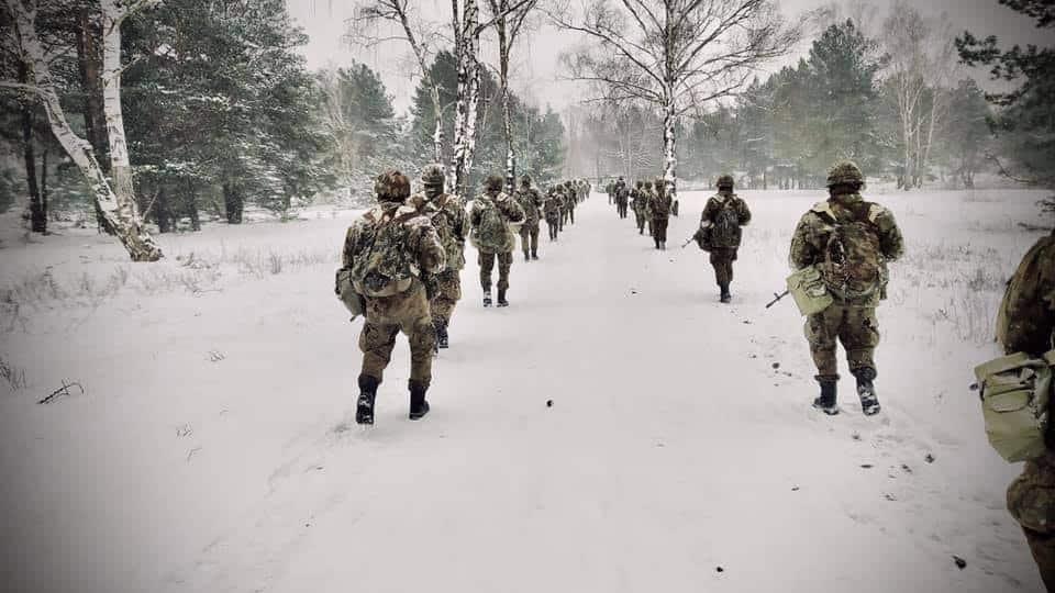 Навчання ЗС Польщі в зимових умовах