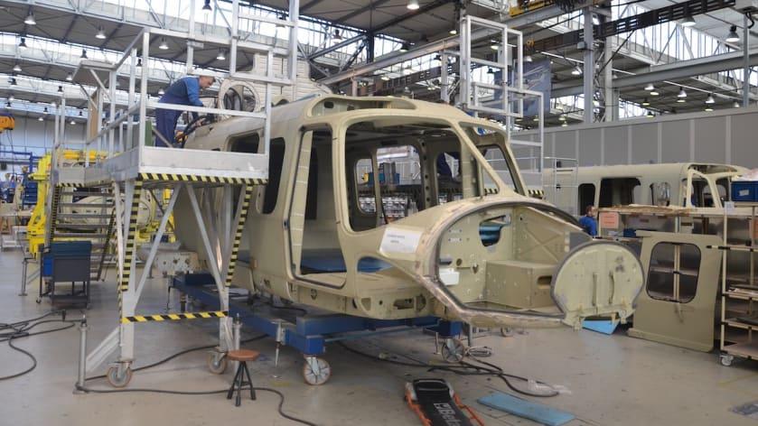 Процес виробництва гелікоптера AW149 на заводі PZL-Świdnik у Польщі
