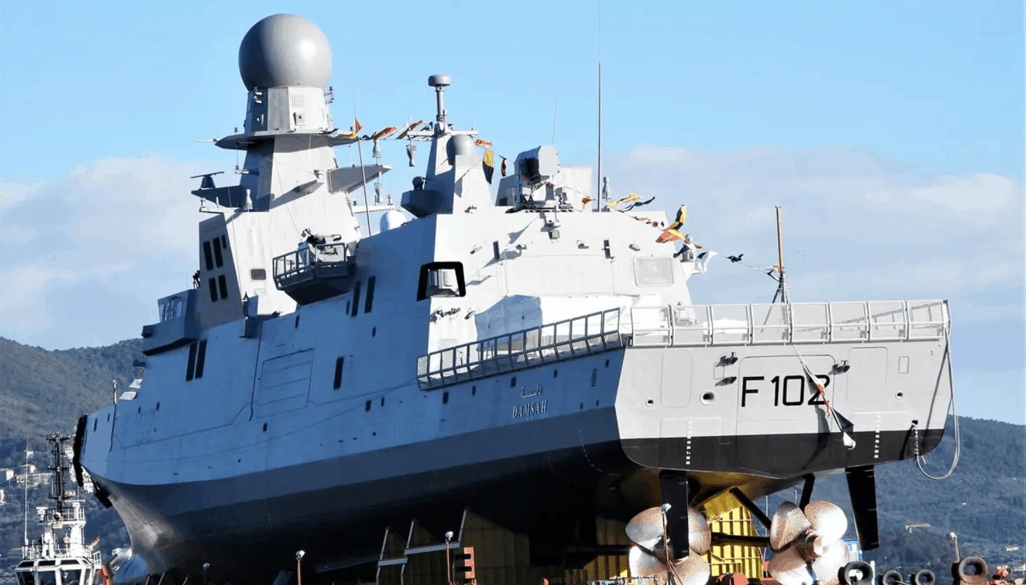 Корвет «Damsah» класу «Al Zubarah» компанії Fincantieri для ВМС Катару. Лютий 2021. Фото: Naval News