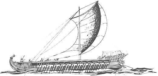 Трирема флоту древньої Греції