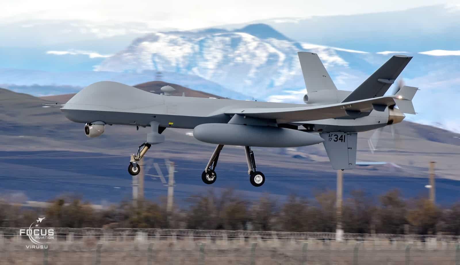 БПЛА MQ-9 Reaper США у Румунії. Лютий 2021. Фото: МО Румунії