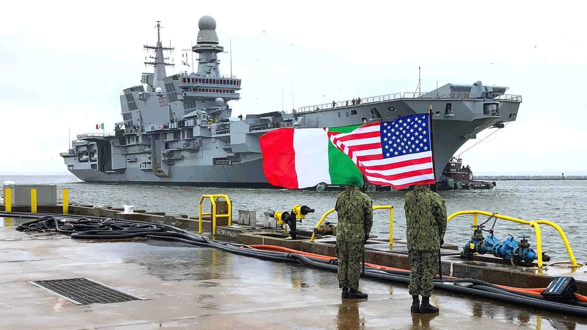 Італійський авіаносець Cavour (C 550) прибув до США, лютий 2021