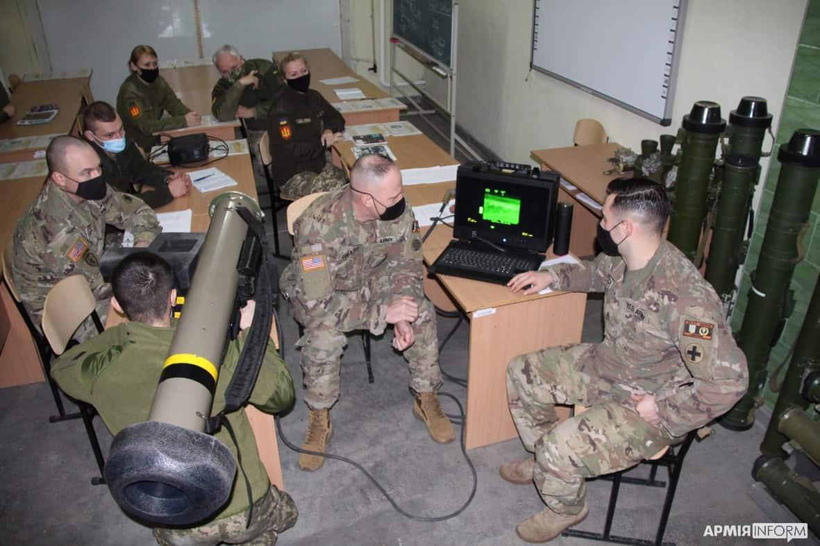 Підготовка оператора FGM-148 «Javelin» в Україні. Лютий 2021. Фото: АрміяInform