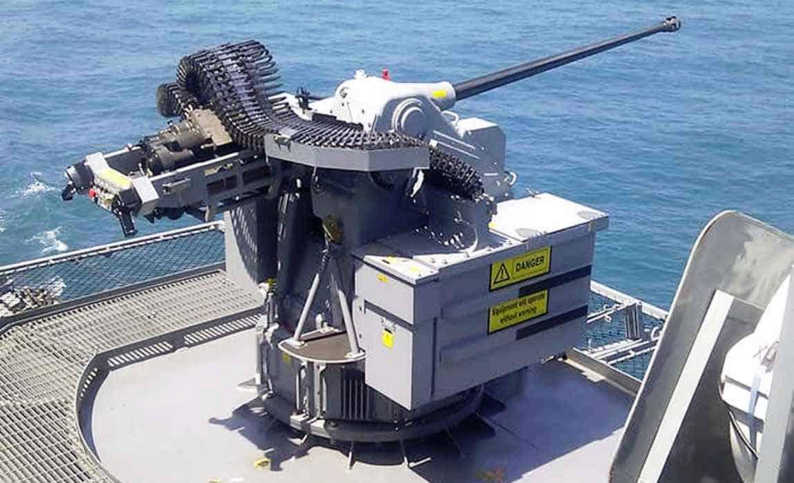 30-мм система MSI Seahawk DS A2 30mm Mk44S Bushmaster. Фото з відкритих джерел