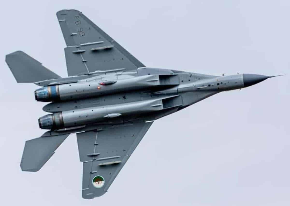 МіГ-29М2 з хвостовим номером 3840 (у ПС Алжиру отримає номер FB-99). Лютий 2021. Фото: Secret Difa3