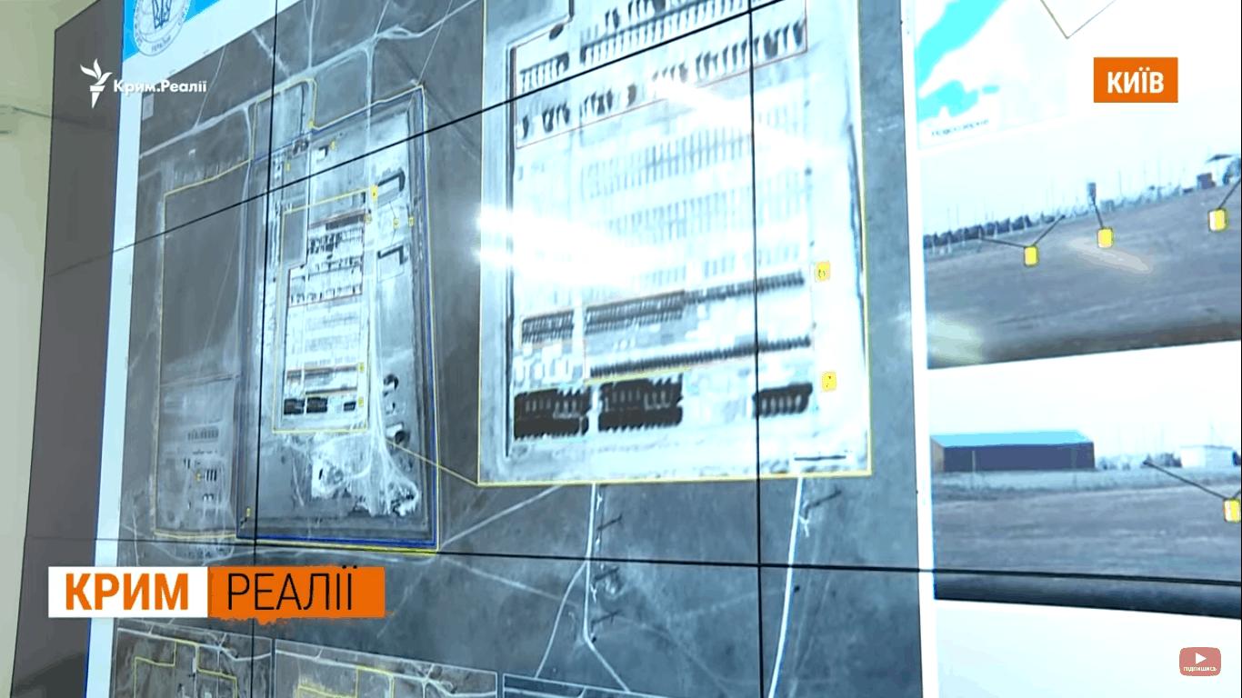 Супутникові знімки об'єкту поблизу селища Новоозерне в окупованому Криму