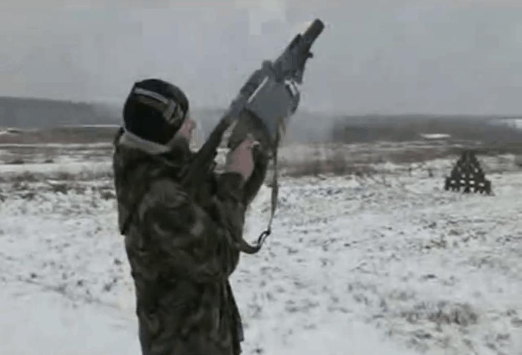 Стрільба з барабанного гранатомету «Шустер-40»