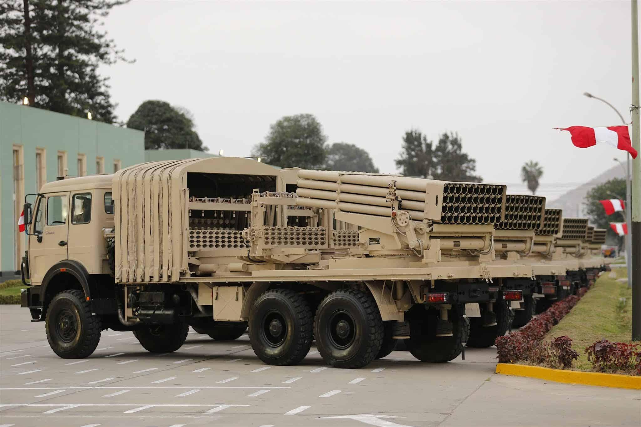 """РСЗВ """"тип 90ВМ"""" армії Перу"""
