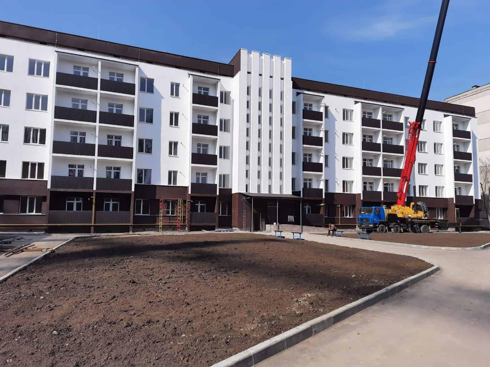 Стан будівництва 80-квартирного житлового будинку для військовослужбовців в Одесі