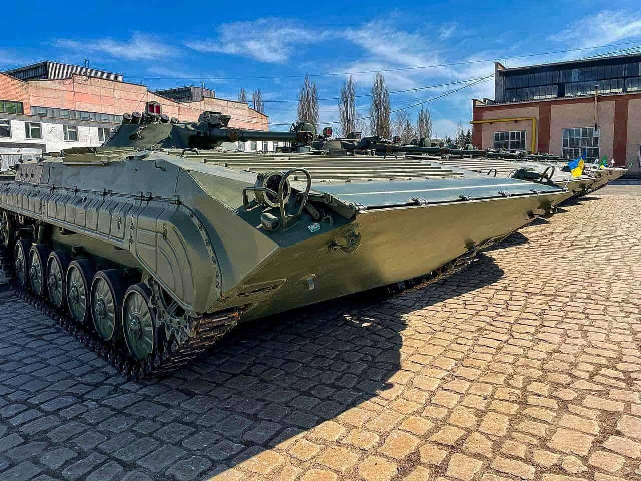 Бойові машини піхоти БМП-1 придбані у польського підприємства та відремонтовані на ДП «Житомирський бронетанковий завод»