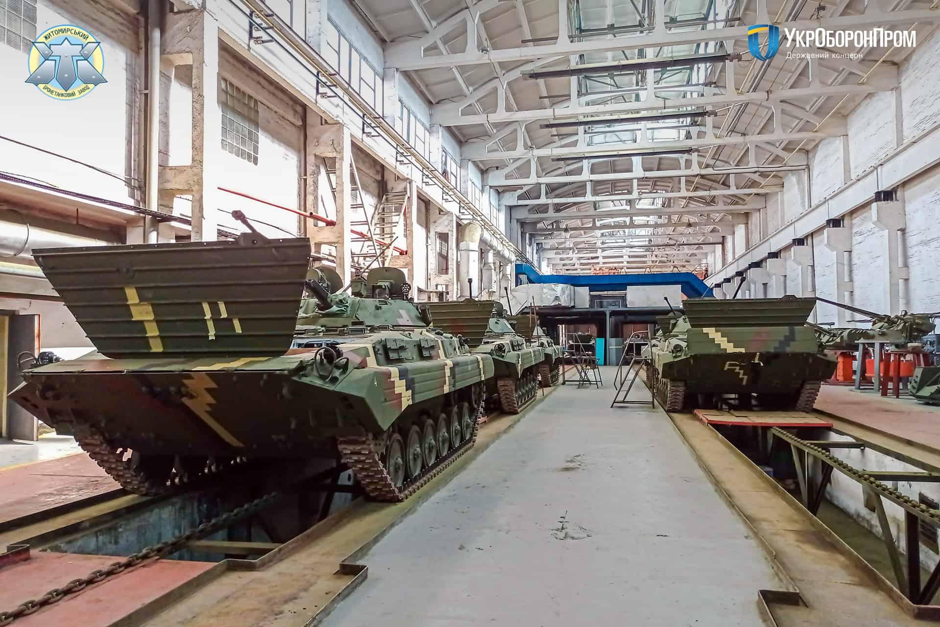 Бойові машини піхоти БМП-2 відремонтовані на ДП «Житомирський бронетанковий завод»