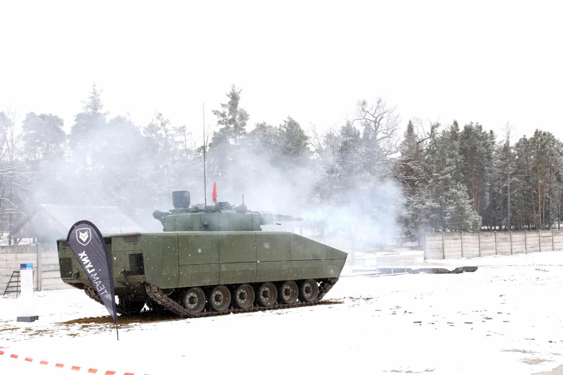 Демонстрація LYNX KF41 від німецької компанії Rheinmetall AG для словацьких військових