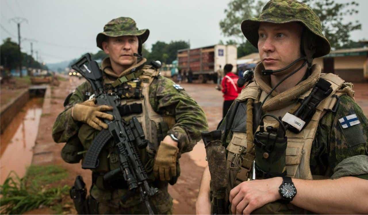 Фінські військові у Центральній Африканській Республіці
