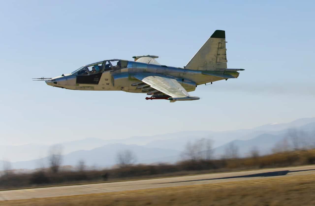 Грузинський штурмовик Су-25 на випробувальному польоті 2