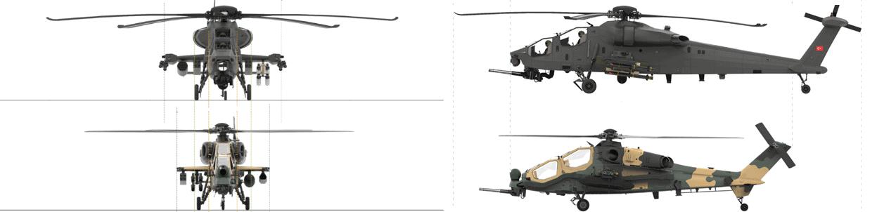 Порівняння габаритів ударних гелікоптерів ATAK та ATAK II