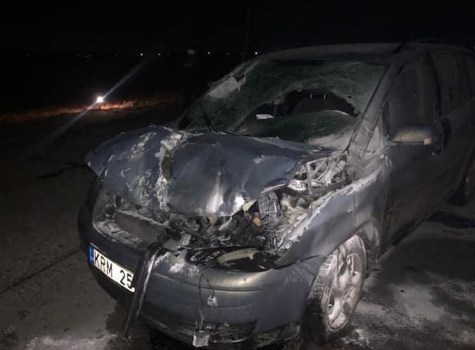 Пошкодження автомобіля після зіткнення з винищувачем МіГ-29