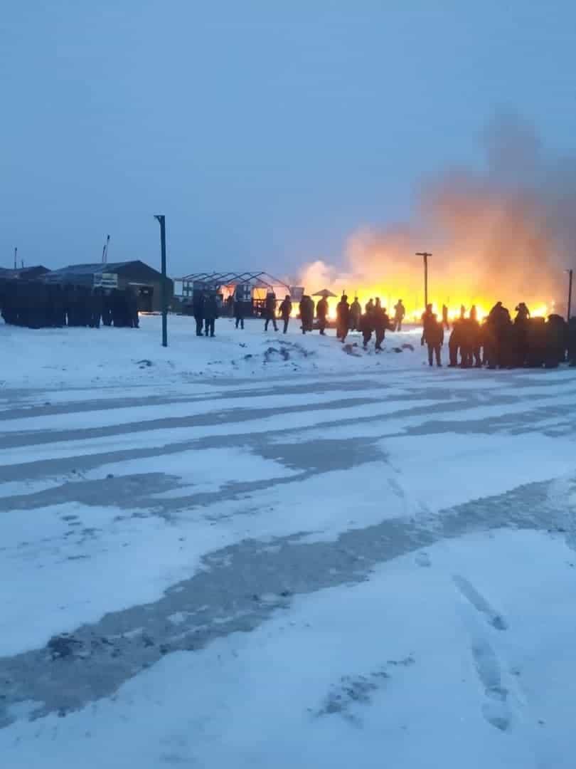 Пожежа на полігоні Алабіно поблизу Москви