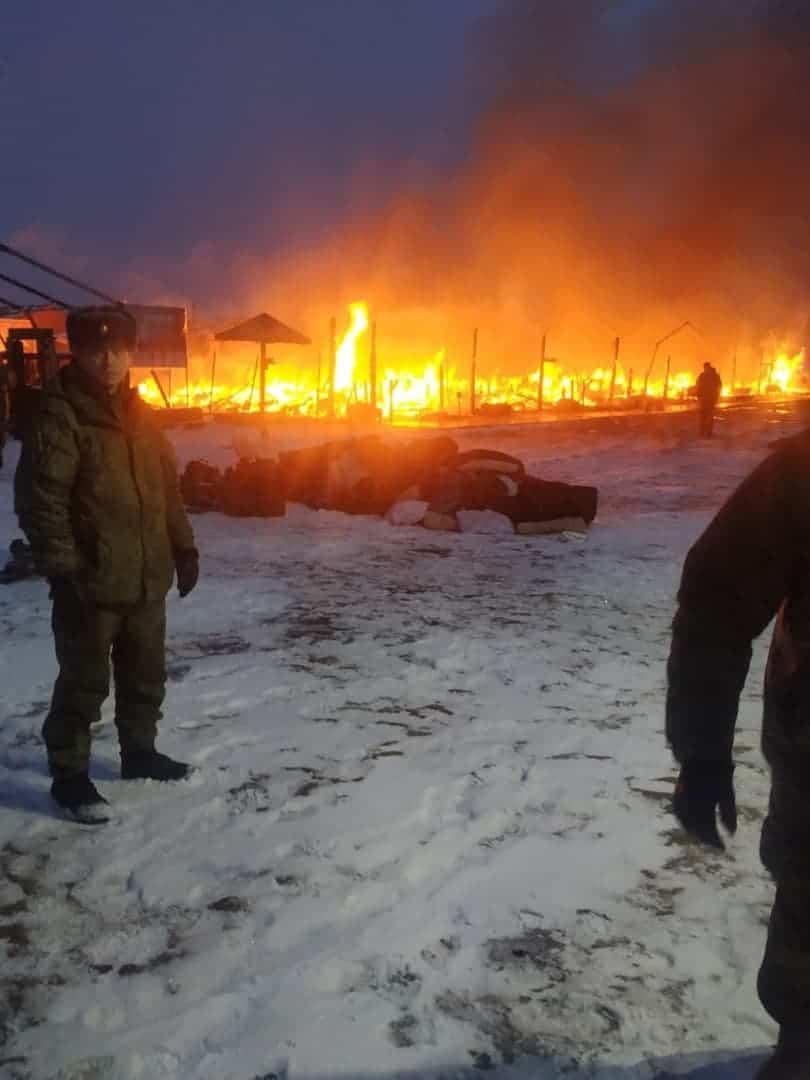 В Росії горить польовий табір на полігоні в Алабіно