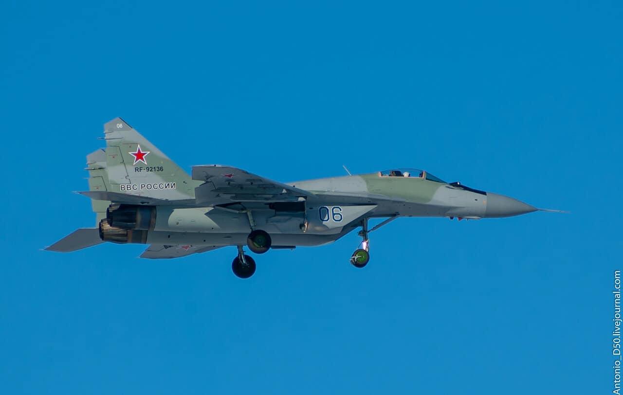 Російський винищувач МіГ-29 116 Центру з бортовим номером 06