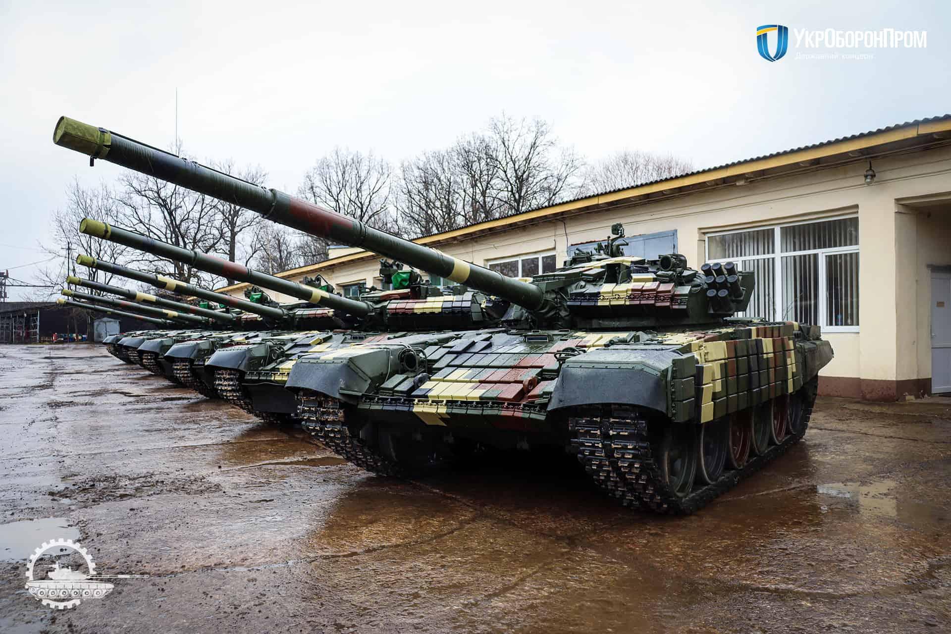 Відремонтовані та модернізовані на ДП «Львівський бронетанковий завод» танки Т-72