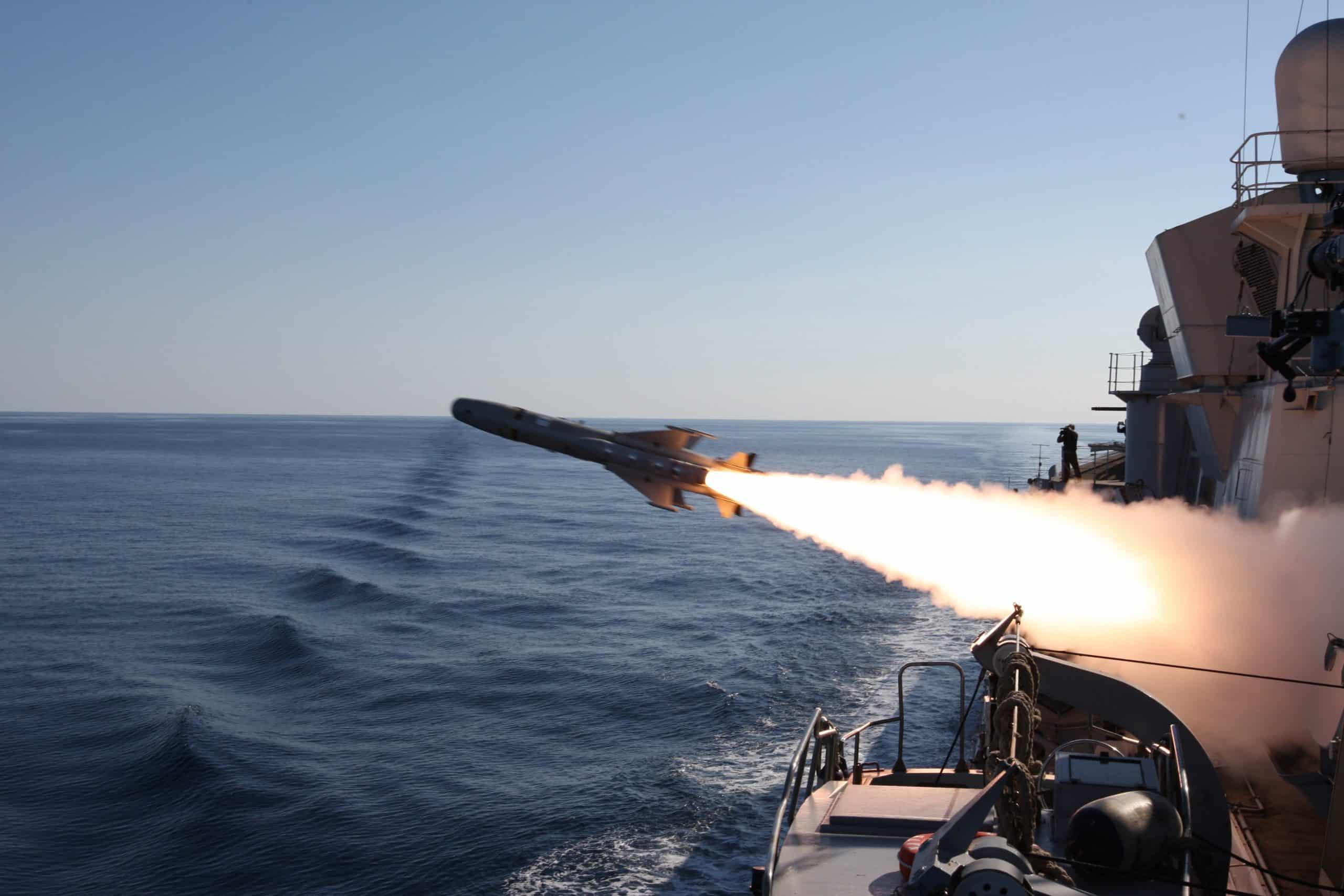 Запуск протикорабельної ракети Teseo Mark 2A
