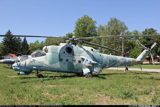 Хорватський ударний гелікоптер Мі-24
