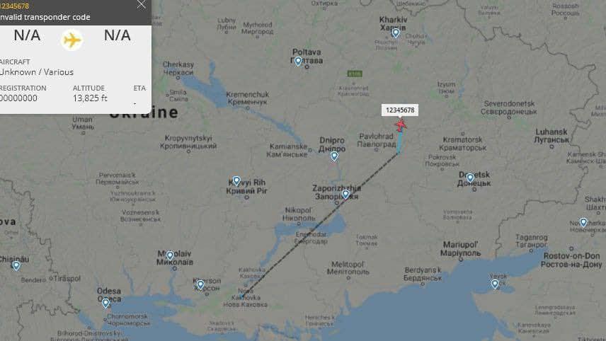 Маршрут польоту БПЛА Bayraktar TB2 9 квітня 2021 року