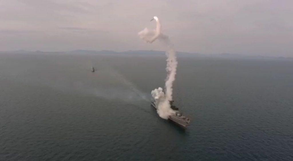 Невдалий пуск ракети «Калибр» з фрегату «Адмирал Шапошников»