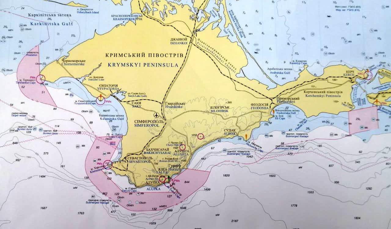 Перекриті Росією райони поблизу окупованого Криму