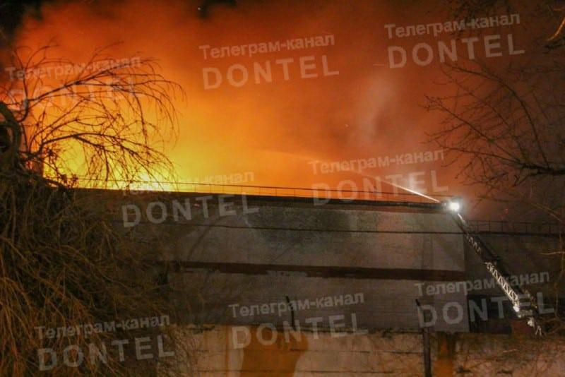 Пожежа на колишньому м'ясокомбінаті в Донецьку