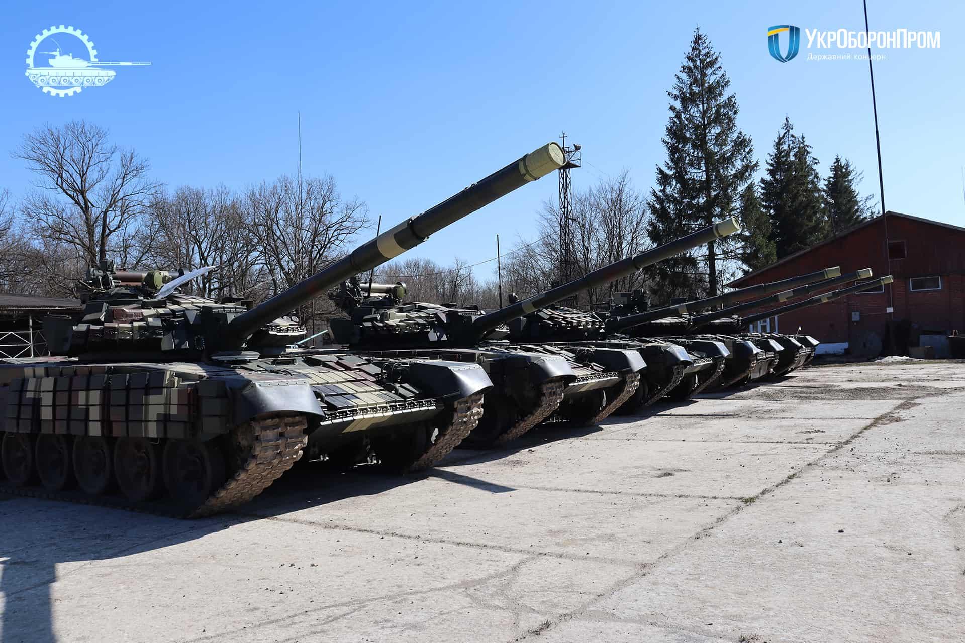 Відремонтовані та модернізовані на ДП «Львівський бронетанковий завод» танки Т-64 та Т-72