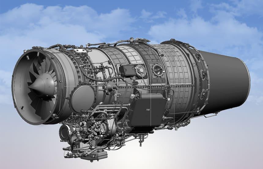 Візуалізація турбореактивного двоконтурного двигуна AI-322-30
