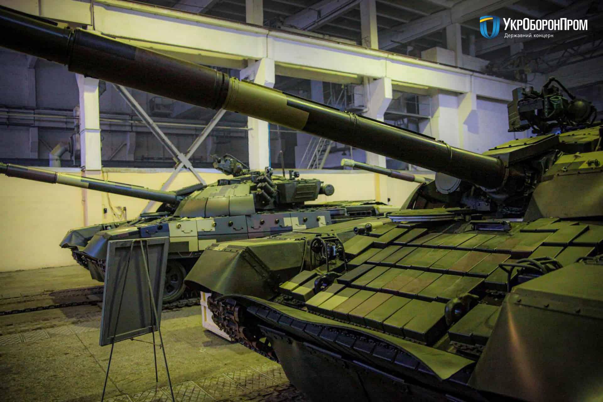 Відремонтовані та модернізовані на ДП «Київський бронетанковий завод» танки Т-72