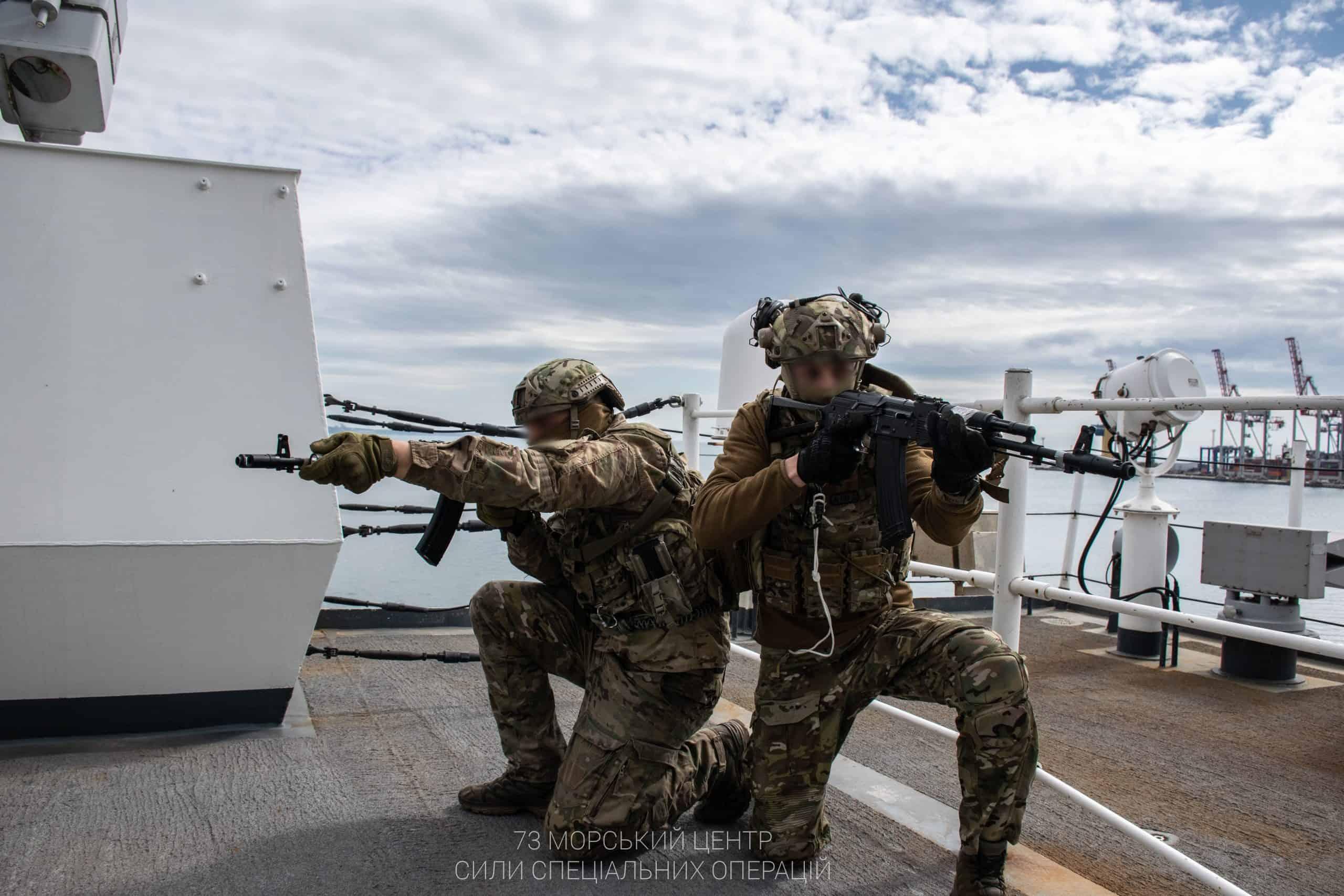 Тренування спецпризначенців 73 морського центру СпП ім кошового отамана Антіна Головатого