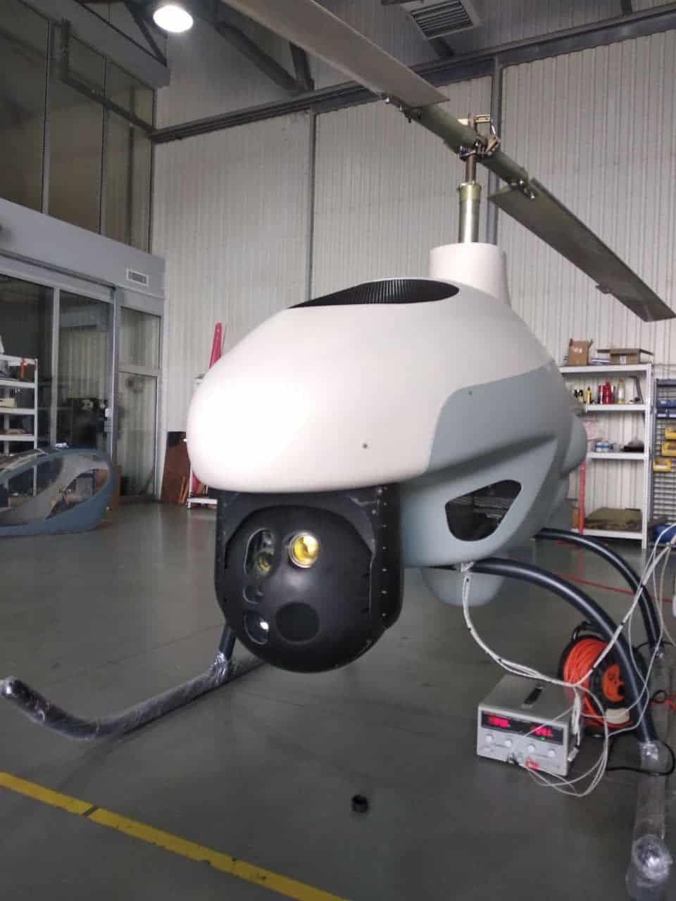 Макет безпілотного літального апарату гелікоптерного типу від ПрАТ «Рамзай»