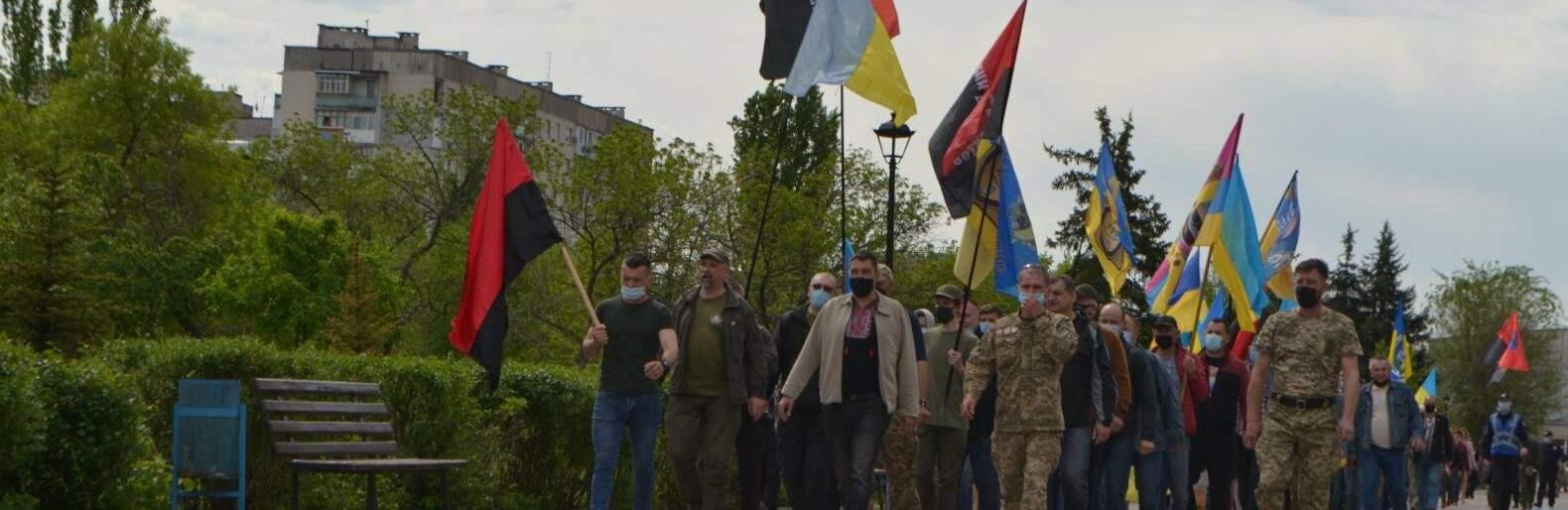 Мітинг ветеранів під Луганською ОДА 1