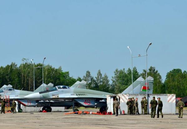 Винищувач МіГ-29 з бортовим номером «48» ВПС Білорусі