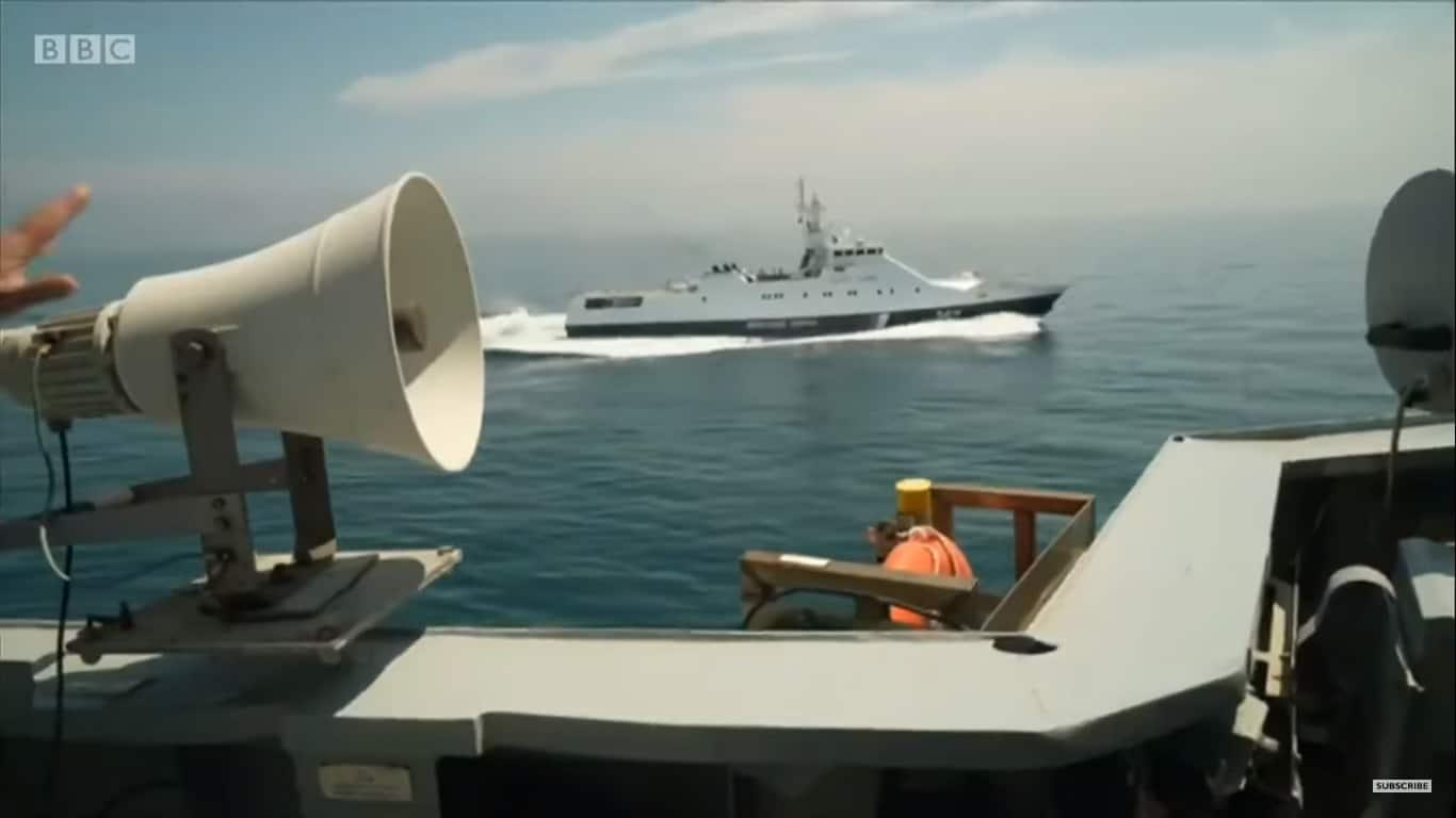 Супроводження російським ПСКР «Аметист» британського есмінця Defender