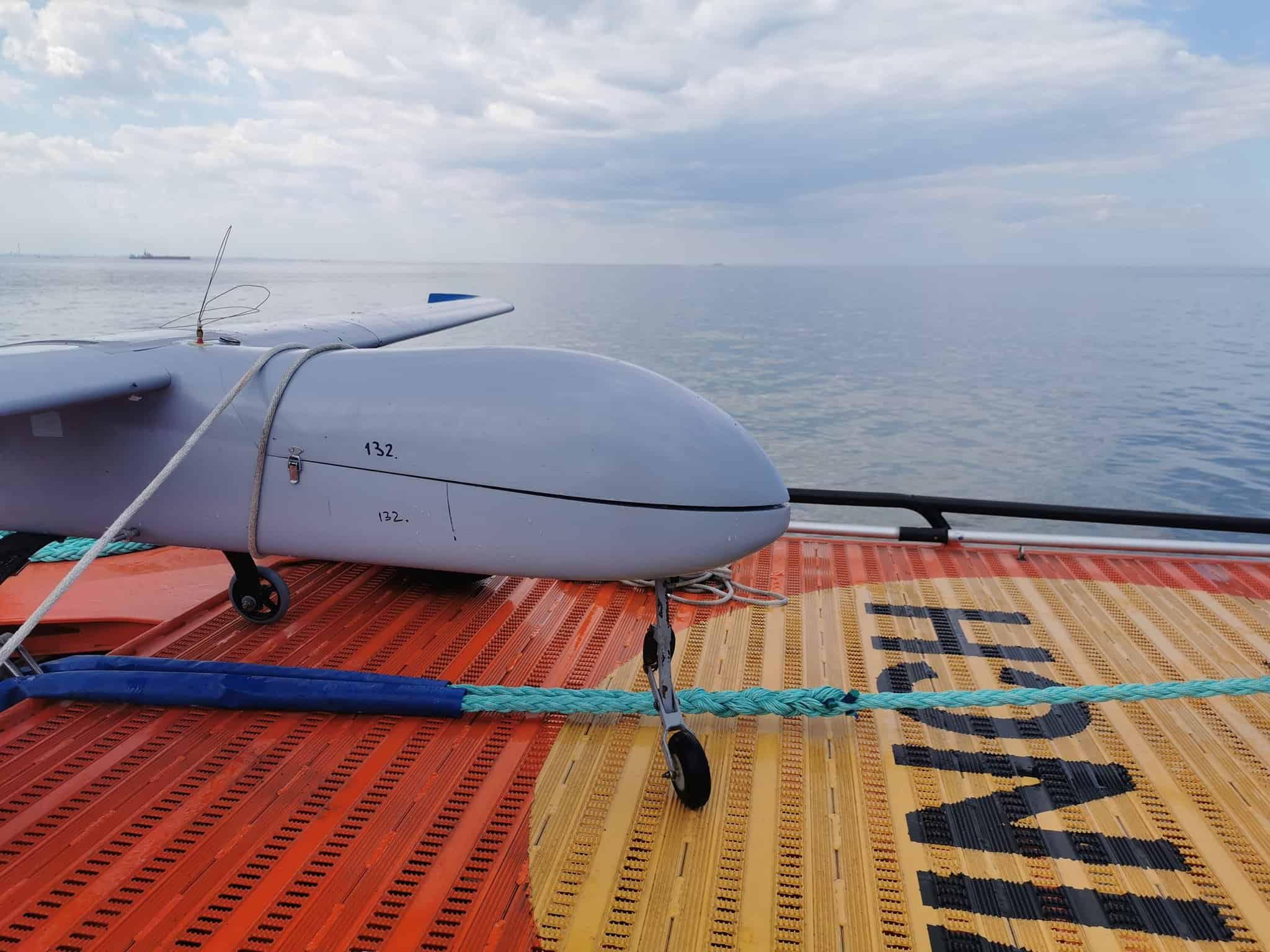 Виловлений Береговою охороною Румунії БПЛА у Чорному морі 1