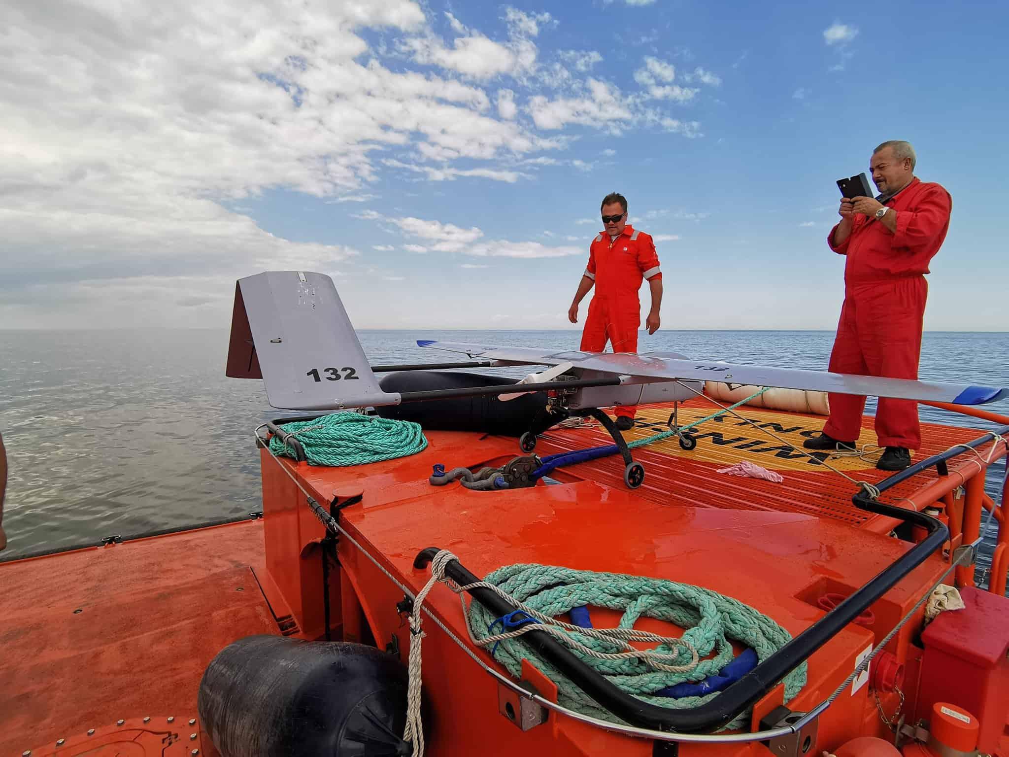 Виловлений Береговою охороною Румунії БПЛА у Чорному морі